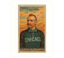 Benjamin K Edwards Collection Cap Anson Chicago White Stockings baseball card portrait Art Print