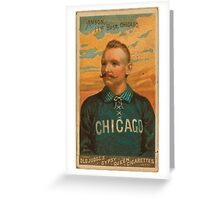Benjamin K Edwards Collection Cap Anson Chicago White Stockings baseball card portrait Greeting Card