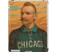 Benjamin K Edwards Collection Cap Anson Chicago White Stockings baseball card portrait iPad Case/Skin