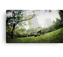 Minhee Cha, Yoga in New York Canvas Print