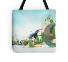 Yoga by the moon, Barcelona  Tote Bag