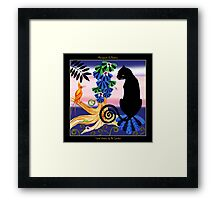 Social Visitor by Ro London - Menagerie Collection Framed Print