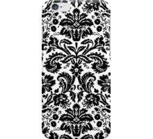 Vintage Black and White Damask Pattern iPhone Case/Skin
