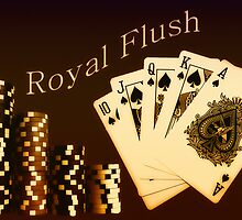 Royal Flush  by Anthony  Poynton