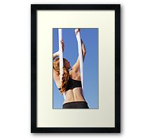 Aerial Tissu at the Trapeze Beach Camp Framed Print