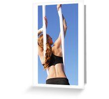 Aerial Tissu at the Trapeze Beach Camp Greeting Card