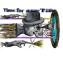 A Time Machine Was Invented out of the Dust and Dirt inverted  Time for a new Time. Photographic Print