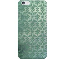 Vintage Damask Pattern in Muted Greens iPhone Case/Skin