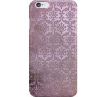 Vintage Damask Pattern in Muted Dusky Pinks iPhone Case/Skin