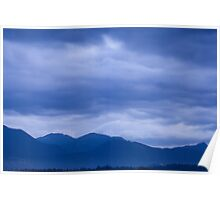 Moody sky at dawn Poster