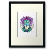 Polygonal Lion Framed Print