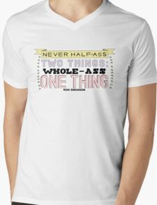 Ron Swanson Parks and Recreation Quote Mens V-Neck T-Shirt