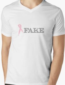 Yes, they're FAKE  My real ones tried to kill me Mens V-Neck T-Shirt