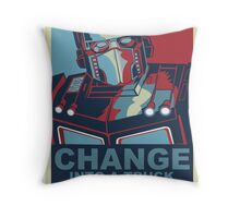 Change into A Truck Throw Pillow