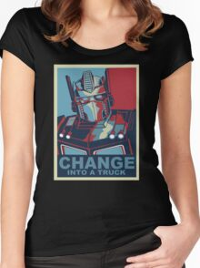 Change into A Truck Women's Fitted Scoop T-Shirt
