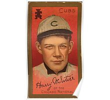 Benjamin K Edwards Collection Harry McIntire Chicago Cubs baseball card portrait Poster