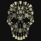 Musical Instruments Rock Skull by ArtformDesigns