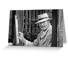 Artist at work mono Greeting Card