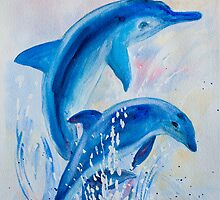 Two Dolphins by Denise Hammond-Webb