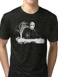 Skull on Dead Tree  Tri-blend T-Shirt