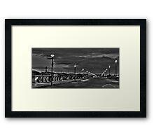 Harbor Walk Framed Print
