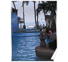 Pool Area Hotel Playa Los Arcos, Zona Romantica, Puerto Vallarta, Mexico Poster