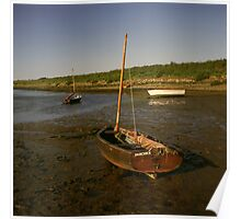 Low tide at Burnham Overy Staithe, Norfolk Poster