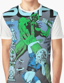 Cthulhu on the cover of SCIFI Graphic T-Shirt