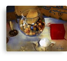 Tea and Toys Canvas Print