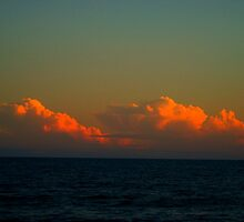 colorful clouds and ocean in Newport RI by shivonnejean