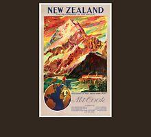 New Zealand Mt. Cook Vintage Travel Poster T-Shirt