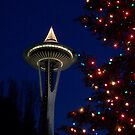 Holidays at the Space Needle by YogiColleen