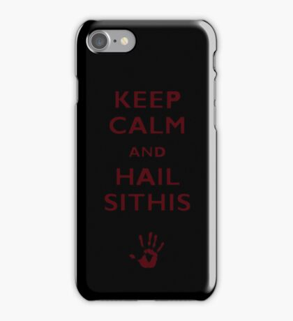 Keep calm and hail Sithis iPhone Case/Skin