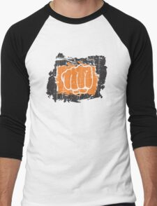 Hand punching Men's Baseball ¾ T-Shirt