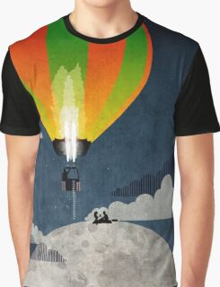 Picnic in a Balloon on the Moon Graphic T-Shirt