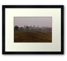 Winter landscape without snow Framed Print