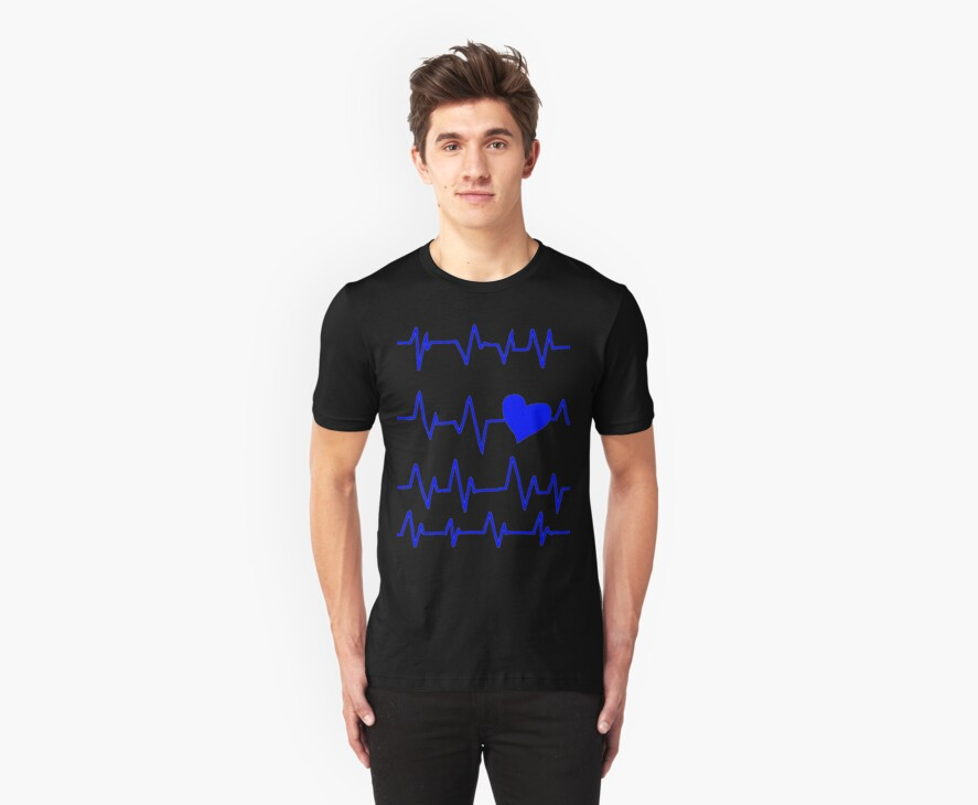 Blueberry's Heart Monitor Shirt  by Kayla O'Donnell
