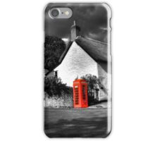 Thatched cottages of Halse (Mono) iPhone Case/Skin