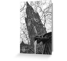 Fountain, Albert Square, Manchester Greeting Card