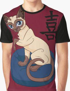 Siamese Chinese Cat Graphic T-Shirt