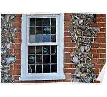 Window and flint wall Poster