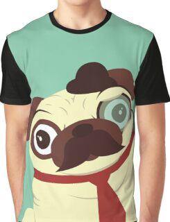 Pug in a Hat Graphic T-Shirt