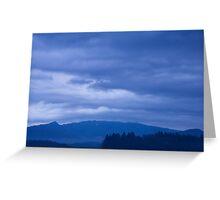 moody sky at dawn Greeting Card