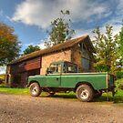 Landrover & the barn by Rob Hawkins