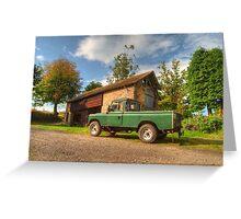 Landrover & the barn Greeting Card