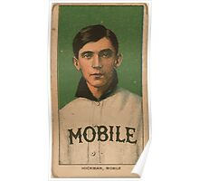 Benjamin K Edwards Collection Gordon Hickman Mobile Team baseball card portrait Poster