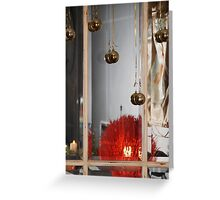 christmas baubles and joy... Greeting Card