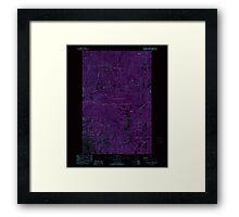 USGS Topo Map Washington State WA Loup Loup Summit 242080 1989 24000 Inverted Framed Print