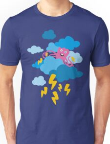 Who Makes the Thunder? - in Blue Unisex T-Shirt