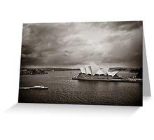 Sydney Opera House in B&W Greeting Card